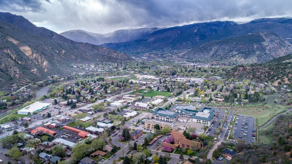 Glenwood Springs from above