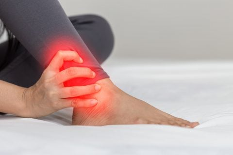 Photo illustration of Ankle pain
