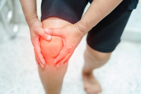 Photo illustration of Knee pain