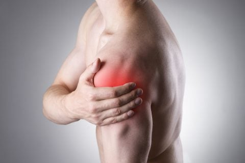 Photo illustration of Shoulder pain