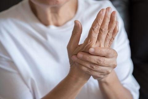 Photo illustration of wrist pain