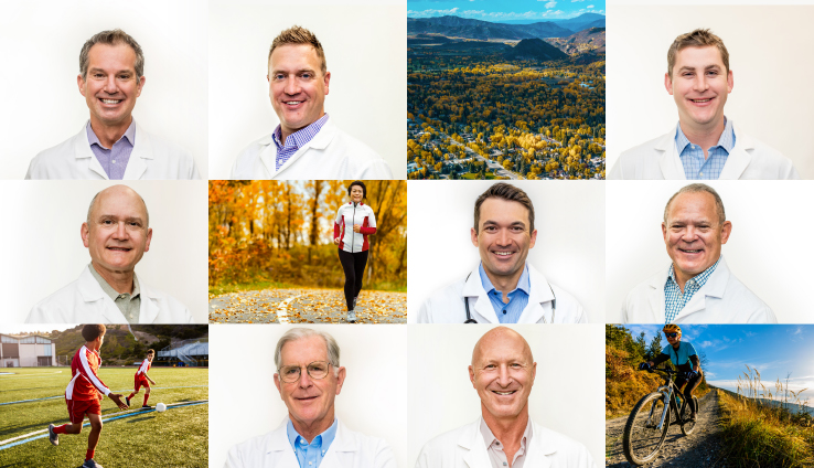 Collage of doctors at Valley Ortho